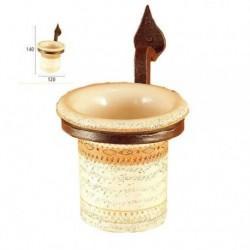 Portabicchiere forgiato con bicchiere ceramica