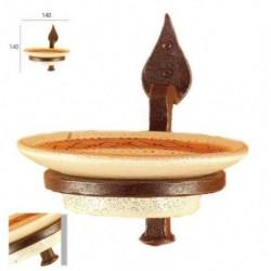 Portasapone forgiato con piatto ceramica