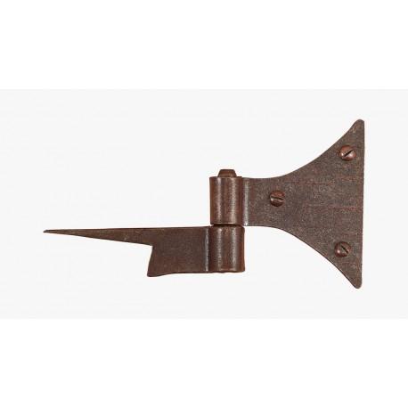 -Cerniera codetta a farfalla in ferro battuto con cardine a conficcare