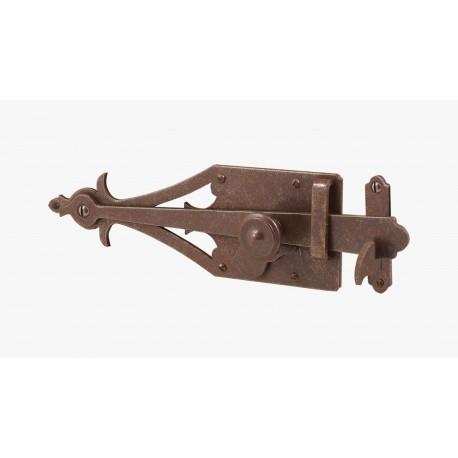 Saltarello in ferro battuto per porte da abbinare a maniglia