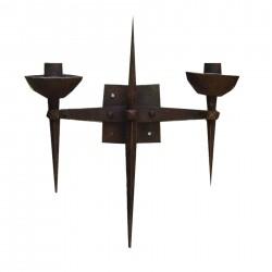 applique antica a parete in ferro battuto forgiato stile medioevale