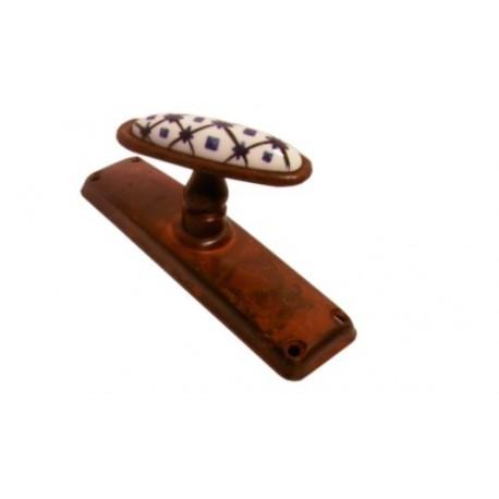 Maniglia Cremonese Per Finestra Ferro Battuto E Ceramica