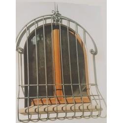 Grata di sicurezza coon pancia in ferro battuto