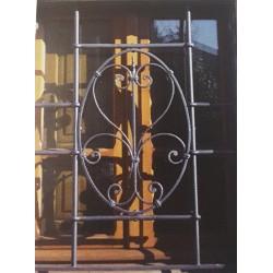 Grata di sicurezza con pancia in ferro battuto