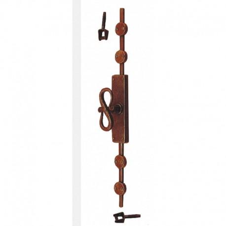 Maniglia Cremonese esterna con aste in ferro