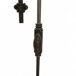 BK002 Maniglia Cremonese esterna con aste in ferro battuto finitura ottone invecchiato