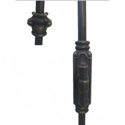 BK102 Maniglia Cremonese esterna con aste in ferro battuto
